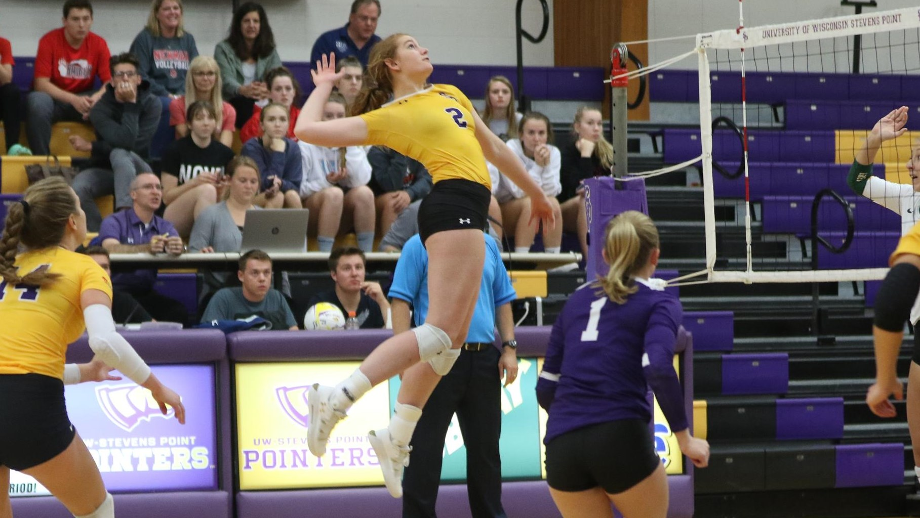Pointers End Regular Season With Big Five Set Victory At Uww University Of Wisconsin Stevens Point Athletics